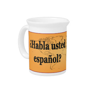 Do you speak Spanish? in Spanish. Flag bf Pitchers