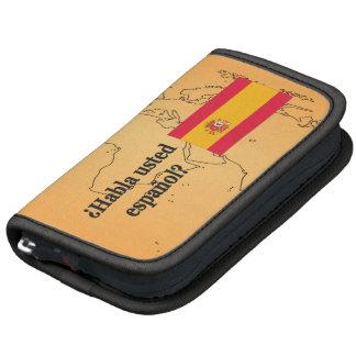 Do you speak Spanish? in Spanish. Flag bf Planner