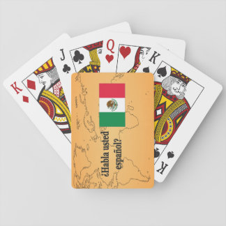 Do you speak Spanish? in Spanish. Flag bf Poker Cards