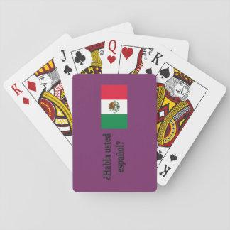 Do you speak Spanish? in Spanish. Flag bf Poker Deck