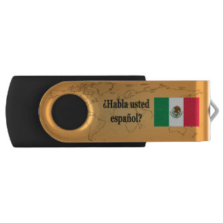 Do you speak Spanish? in Spanish. Flag bf Swivel USB 2.0 Flash Drive