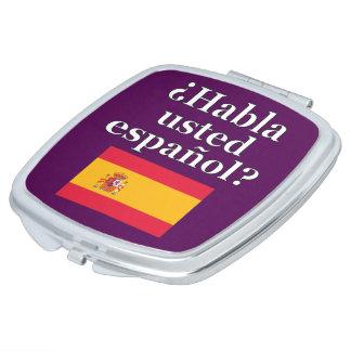 Do you speak Spanish? in Spanish. Flag Compact Mirrors