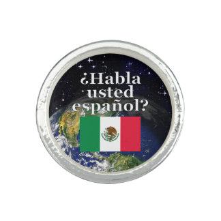 Do you speak Spanish? in Spanish. Flag & Earth