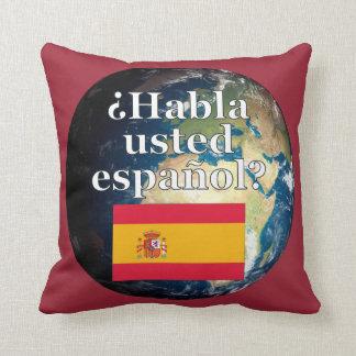 Do you speak Spanish? in Spanish. Flag & Earth Throw Pillows