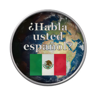 Do you speak Spanish? in Spanish. Flag & Earth Jelly Belly Candy Tin