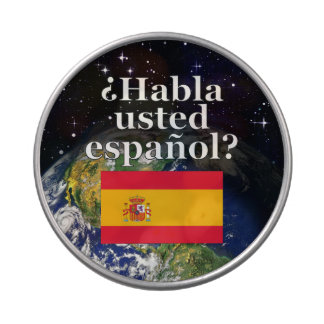 Do you speak Spanish? in Spanish. Flag & Earth Jelly Belly Tins