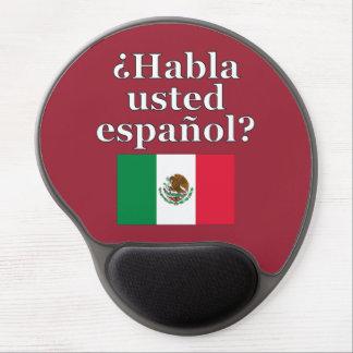 Do you speak Spanish? in Spanish. Flag Gel Mouse Pad