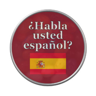 Do you speak Spanish? in Spanish. Flag Jelly Belly Candy Tins