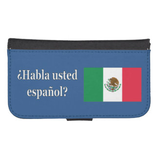 Do you speak Spanish? in Spanish. Flag wf