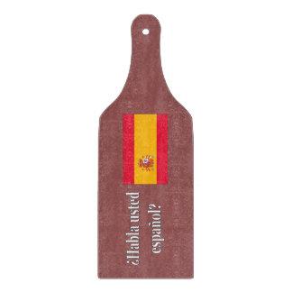 Do you speak Spanish? in Spanish. Flag wf Cutting Board