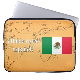 Do you speak Spanish? in Spanish. Flag wf Laptop Sleeves