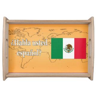 Do you speak Spanish? in Spanish. Flag wf Service Trays