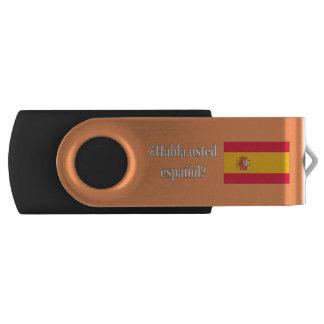 Do you speak Spanish? in Spanish. Flag wf Swivel USB 2.0 Flash Drive
