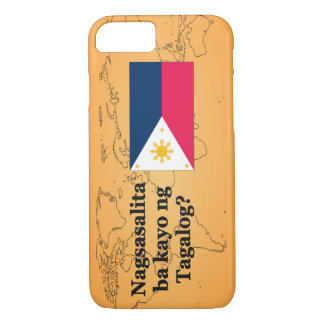 Do you speak Tagalog? in Tagalog. Flag bf iPhone 7 Case