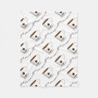 Do you want a coffee fleece blanket
