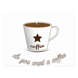 Do you want a coffee postcard