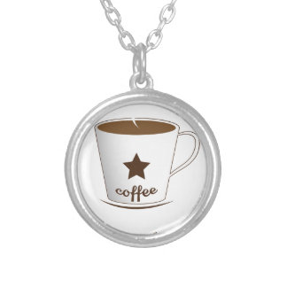 Do you want a coffee silver plated necklace