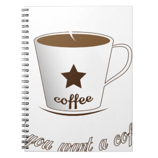 Do you want a coffee spiral notebook