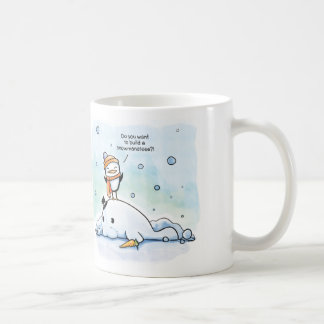 Do You Want to Build a Snowmanatee - Penguin - Mug