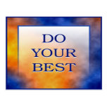 DO YOUR BEST POSTCARD