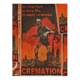 Do Your Part to Stop the Zombie Uprising Postcard