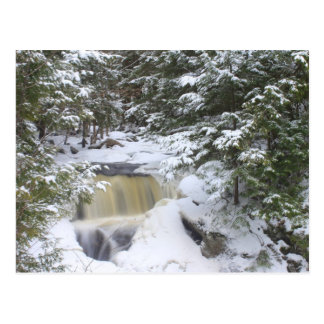 Doanes Falls Winter Snow Postcard