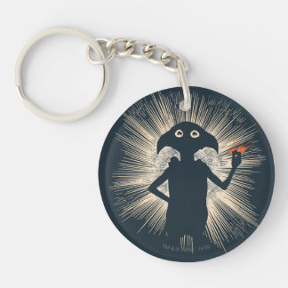 Dobby Casting Magic Double-Sided Round Acrylic Key Ring