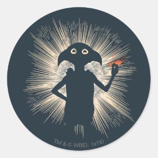 Dobby Casting Magic Round Sticker