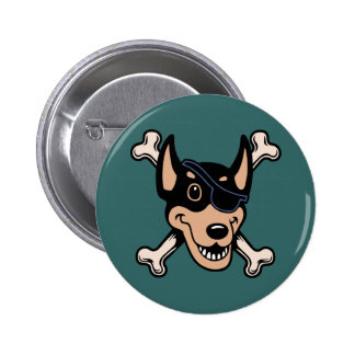 Dobe-n-Crossbones 6 Cm Round Badge