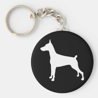 Dobe Silhouette Basic Round Button Key Ring