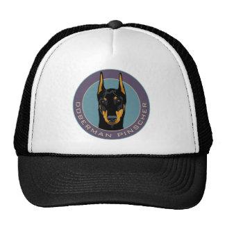 Doberman Badge, Black with green Hats