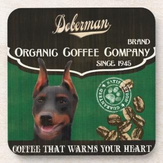 Doberman Brand – Organic Coffee Company Coaster