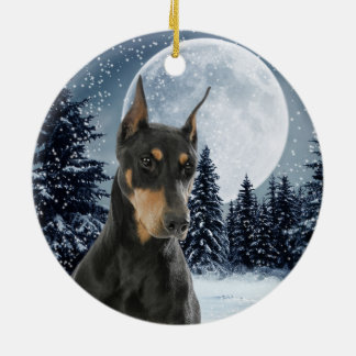 Doberman Christmas Ornament
