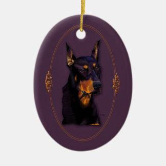 Doberman customizable ornament