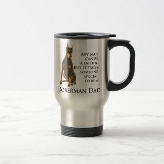 Doberman Dad Travel Mug