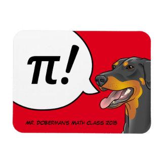 Doberman Dog Math Nerd Geek PI Magnet