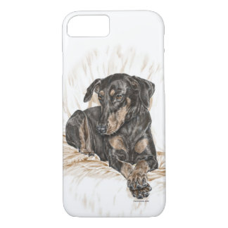 Doberman Dog Natural Ears for Keys iPhone 8/7 Case