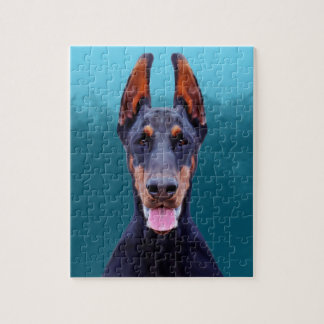 Doberman Dog Portrait Jigsaw Puzzle