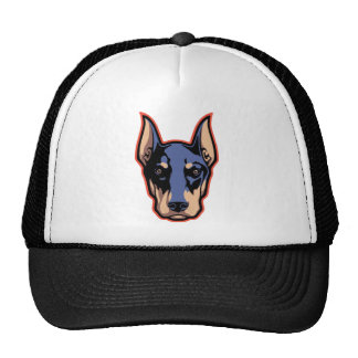 Doberman Face Mesh Hats