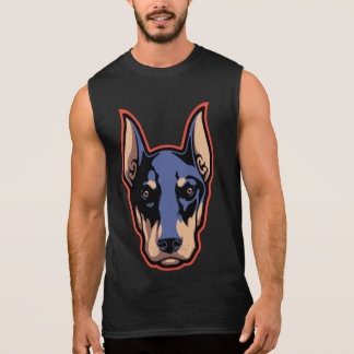 Doberman Face Sleeveless Tee