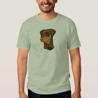 Doberman Head, Red, Uncropped Tshirt