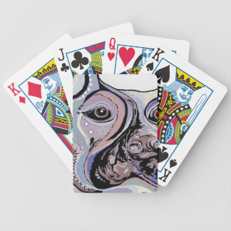 Doberman in Denim Colors Bicycle Playing Cards