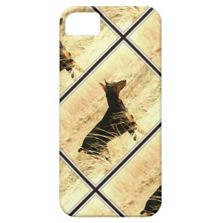 Doberman in Dry Reeds Painting Image iPhone 5 Cases