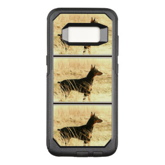 Doberman in Dry Reeds Painting Image OtterBox Commuter Samsung Galaxy S8 Case