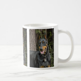 Doberman in Forest Coffee Mug