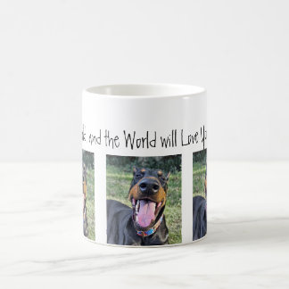 "Doberman ""Love the World"" Mug"