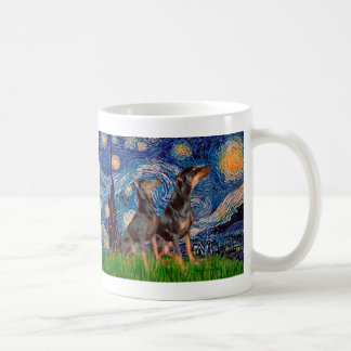Doberman Pair - Starry Night Coffee Mug