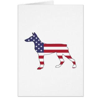 """doberman pinscher """"american flag"""" card"""