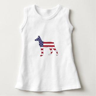 """doberman pinscher """"american flag"""" dress"""