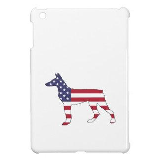 "doberman pinscher ""american flag"" iPad mini cover"